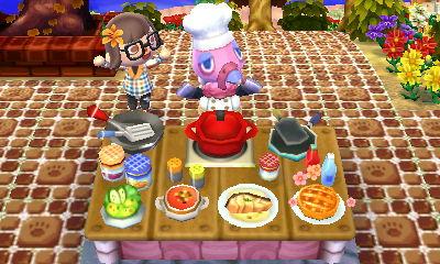Animal Crossing New Leaf Food Furniture