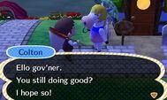 Talking to Colton