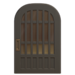 NH-House Customization-black latticework door (round)