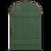 NH-House Customization-green rustic door (round)