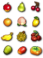 Animal crossing pixel fruit by drewsefske-d6cp9o7
