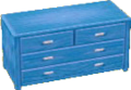 Light blue bureau