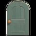 NH-House Customization-gray wooden door (round)