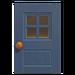 NH-House Customization-blue windowed door (square)