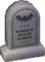 Creepy bat stone