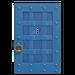 NH-House Customization-blue iron door (square)