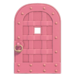 NH-House Customization-pink iron door (round)