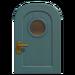 NH-House Customization-blue basic door (round)