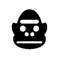 GorillaSpeciesIconSilhouette