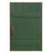 NH-House Customization-green rustic door (square)