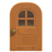 NH-House Customization-maple windowed door (round)