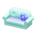 NH-Furniture-Cute sofa (sky blue)