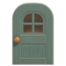 NH-House Customization-gray windowed door (round)