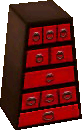 Exotic bureau black and red