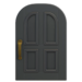 NH-House Customization-black common door (round)