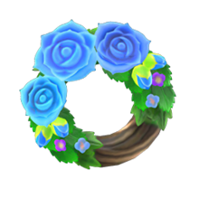 NH-Blue rose wreath