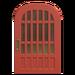 NH-House Customization-red latticework door (round)