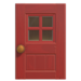 NH-House Customization-red windowed door (square)