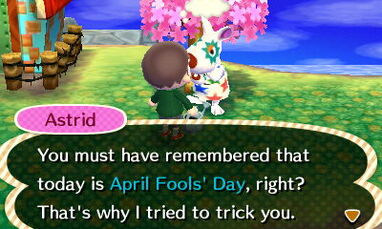 Astrid april fools day