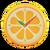 NH-DIY-Furniture-Orange wall-mounted clock