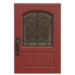 NH-House Customization-red iron grill door (square)