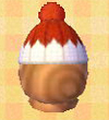 NL-red pom-pom hat