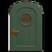 NH-House Customization-green basic door (round)