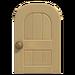 NH-House Customization-beige wooden door (round)