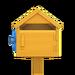 NH-House Customization-yellow wooden mailbox