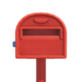 NH-House Customization-red ordinary mailbox