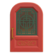 NH-House Customization-red-green imperial door (round)