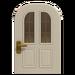 NH-House Customization-white vertical-panes door (round)