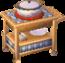 Beige alpine kitchen cart