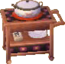 Square alpine kitchen cart