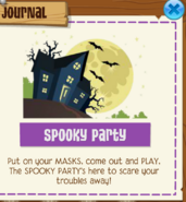 Spooky party jamaa journal 2018
