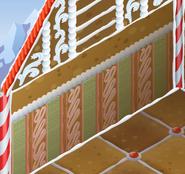 Jamaaliday-House Pink-Striped-Walls