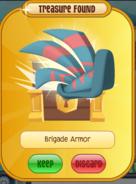 Blue brigade armour