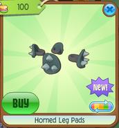 Horned Leg Pads Green