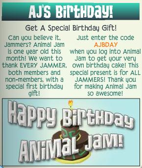 AJ Birthday Cake Collection Animal Jam Wiki FANDOM powered by Wikia