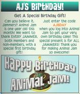Jamaa-Journal Vol-043 AJs-Birthday