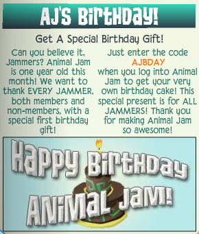 AJ Birthday Cake Collection | Animal Jam Wiki | FANDOM