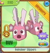 Reindeer slippers pink