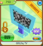 Shop Glitchy-TV Blue-Static