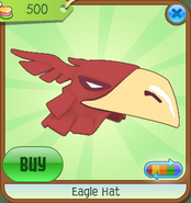 Museum-Shop Eagle-Hat Red