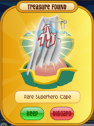Rare Superhero Cape White Prize