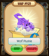 The-Claw Wolf-Plushie Purple