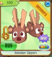Reindeer slippers ochre