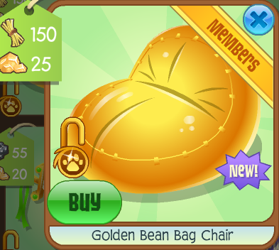 Golden Bean Bag Chair