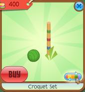 Shop Croquet-Set Ball-Post Green