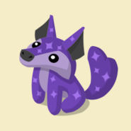Item Exclusive Coyote Plushie purple-star